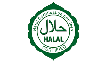 No haram product or procedure is used during the food's manufacturing or processing.